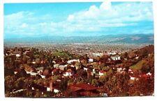 Vintage 1960's San Fernando Valley Hollywood Hills Photo Postcard