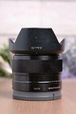 Sony SEL35F18 35mm F/1.8 OSS Lens E mount APS-C w/Caps and Hood