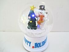 CHRISTMAS FROSTY THE SNOWMAN Musical Snow Globe SNOW BLOWS & LIGHTS UP Battery