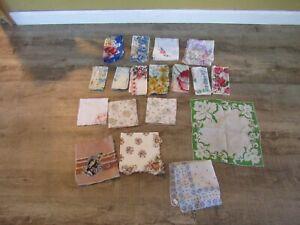Lot of 17 vintage hankies handkerchiefs
