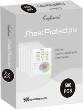 New Listingsheet Protectors 3 Hole Binder Sleeves To Protect Frequently Used 85 X 11 Paper