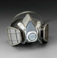 3M 5201 Half Facepiece Respirator W/ Organic Vapor Cartridge, Size MEDIUM