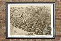 Vintage Poughkeepsie, NY Map 1874 - Historic New York Art Victorian Industrial