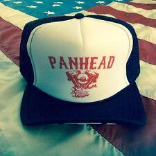 PANHEAD TRUCKER HAT harley vtg biker chopper ftw knucklehead springer hardtail