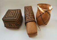 African Tribal Art fine Group vintage zandi baskets Azande Congo