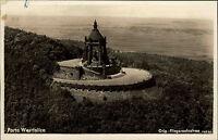 Porta Westfalica 1940 Luftbild Fliegeraufnahme Kaiser Wilhelm Denkmal Panorama
