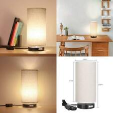HAITRAL BEDSIDE DESK LAMP MODERN MINIMALIST TABLE LAMP WITH FABRIC NIGHT SHADE