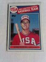 1985 Mark McGwire Topps Rookie Card #401 USA Olympic Team.