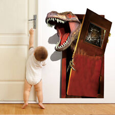 3D Break Door Dinosaur Room Home Decor Removable Wall Stickers Decals Decoration