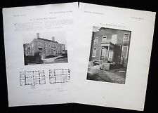 73 REDINGTON ROAD HAMPSTEAD LONDON EDWARD MAUFE ARCHITECT 2pp PHOTO ARTICLE 1922