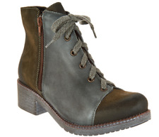 Naot Leather and Suede Lace-up Ankle Boots Groovy Olive Oil EU 37 US 6