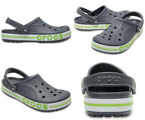 Crocs Bayaband Green Grey Clogs Slip On Classics Slide Sandals 205089-0A3 New