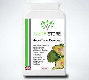 HepaClear Complex Natural Herbal Liver Cleanse and Detox Supplement 60 Capsules