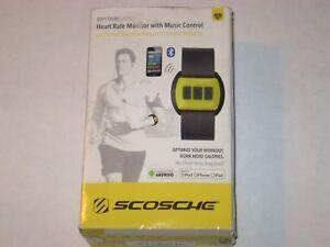 NIB Scosche RhythmPulse Heart Rate Monitor with Music Control RTHMA1.5 Yellow