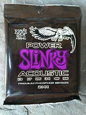 Ernie Ball Acoustic Power Slinky 80/20 Phosphor Bronze 2144 2 Packages