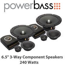 """Powerbass 2XL-63.3C - 6.5"""" 3-Way Car Audio Door Component Speakers 240 Watts"""