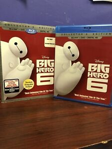 Big Hero 6 (Blu-ray/DVD, 2015, 2-Disc Set