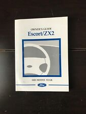 2001 Ford Escort Zx2 Owners Manual OEM Free Shipping