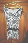 Petite Robe noire et blanche Rosebud taille XS