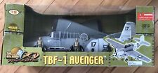 2006 21st Century Toys 1/18 TBF-1 AVENGER WWII Fighter Plane New in Open Box
