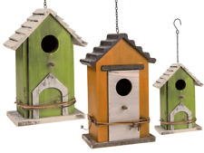 Wooden Nesting Nest Box Bird House Small Wild Birds Blue Tit Robin Sparrow
