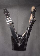 NEW British Military / Police Black Leather Sam Browne Belt Sword Frog
