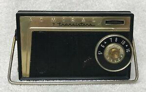 Rare Vintage 1957 ADMIRAL Model 7M11 BLACK Seven (7) Transistor AM Radio