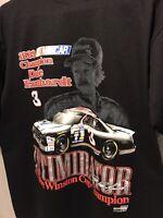 EUC Vintage Dale Earnhardt Shirt Mens XL Black Nutmeg 1993 Intimidator CLEAN