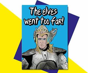 Eurovision Fire Saga Lars Will Farrell Birthday Card The elves went too far IN35