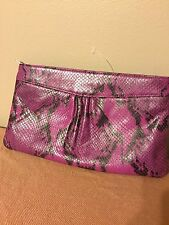 Banana Republic Purple Snake Pattern NWOT Clutch Purse