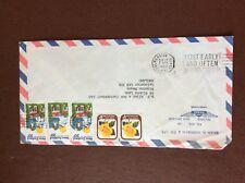 b1u ephemera stamped franked envelope new zealand 5 stamps airmail kerrigan