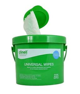 CLINELL CWBUC225 MULTI PURPOSE UNIVERSAL WIPES - BUCKET OF 225 WIPES