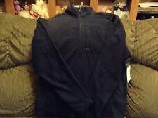 NWT Men's NordicTrack NT Dri XL 1/4 zip fleece pullover, beyond navy, super soft