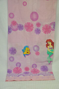 VTG Disney THE LITTLE MERMAID Special Edition PINK Curtain PANEL Flounder BUBBLE