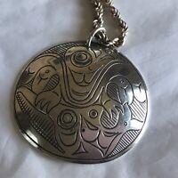 Northwest Coast Native Art Eagle Pendent Necklace 1067 ET