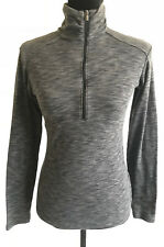 Columbia Womens Gray Static Long Sleeve 1/2 Zip Pullover Sweater Size Small
