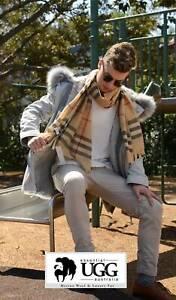 FATHER DAY Uni Sex Designer Check Pashmina Shawl Scarf Wrap Essential UGG Camel
