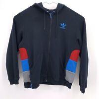 Adidas Mens XL Full Zip Up Hoodie Jacket Black