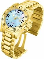 Invicta 6244 Reserve Swiss Made Quartz Date Gold Tone Stainless Steel Mens Watch