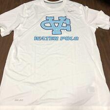 Water polo mens tshirt large white blue university l
