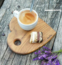 Wooden Heart Shape Coffee Tray Or Cake Serving Plate