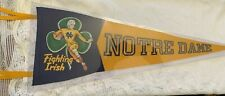 1950's Notre Dame Fighting Irish Football Wool Pennant AMES Mint
