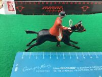 Vintage Britains Lead Hunt.Mounted Huntsman  With Whip on Galloping Horse .1/32.
