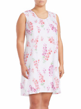 NWT Karen Neuburger Sz 1X Sleep Shirt Dress Nightgown Nightshirt Cotton Floral