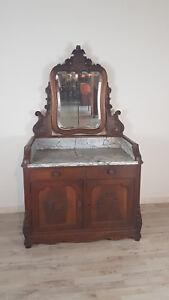 credenza toilette antica Luigi Filippo con marmo in noce metà 1800 Sec XIX