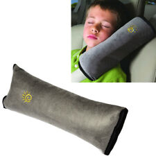 1PC Auto Car Safety Seat Belt Pad Strap Shoulder Sleep Pillow Cushion Cover Gray