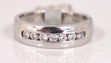 Mens Diamond Wedding Band Ring .55 carat 14k White Gold Size 10