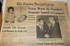 Vintage Newspaper : NOVEMBER 28, 1963 (12pp Sec 1) TOPEKA Daily Capital