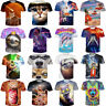 3D T-Shirt Cute Animal Cat Dolphin Sloth Print Men Women Casual Short Sleeve Tee