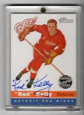 Red Kelly 2001 Topps Heritage On Card Autograph #HA-RK Red Wings